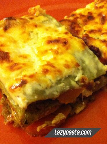 Lazy Lasagne al forno recipe.