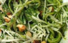 Linguine with spinach pesto recipe.