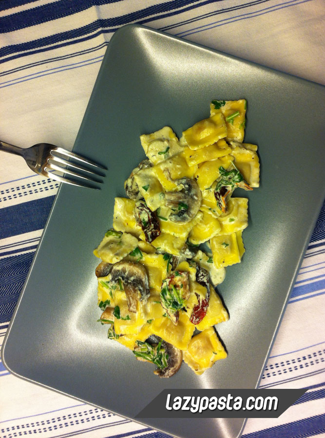 Ravioli with mushrooms